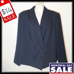 Jessica London Navy Blue Blazer